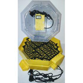 Incubator Cleo 5 cu etaj, termohigrometru digital, întoarcere automată ouă de prepeliţă şi cupă exterioară pt. apă
