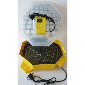 Incubator Cleo 5 cu termohigrometru digital, întoarcere automată ouă de găină şi cupă exterioară pt. apă