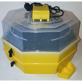 Incubator Cleo 5 cu etaj, termometru digital, întoarcere semi-automată ouă de prepeliţă şi cupă exterioară pt. apă