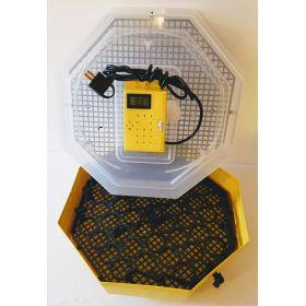 Incubator Cleo 5 cu termohigrometru digital şi întoarcere semi-automată ouă de găină & prepeliţă