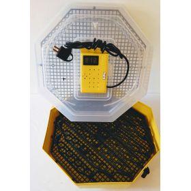 Incubator Cleo 5 cu termohigrometru digital şi întoarcere semi-automată ouă de prepeliţă
