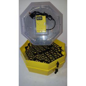 Incubator Cleo 5 cu etaj, termohigrometru şi întoarcere semi-automată ouă de prepeliţă
