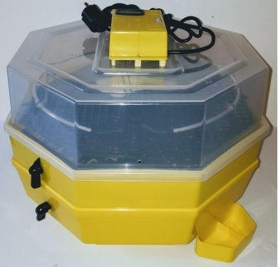 Incubator Cleo 5 cu etaj, termometru digital, întoarcere semi-automată ouă de găină şi cupă exterioară pt. apă.