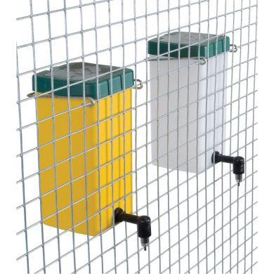 Adapatoare automata iepuri 1 litru niplu metalic pahar borcan recipient cupa port-sticla capac verde clema prindere