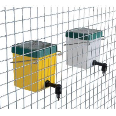Adapatoare automata iepuri 0.5L niplu metalic pahar borcan recipient cupa galbena sau alba capac verde clema de prindere