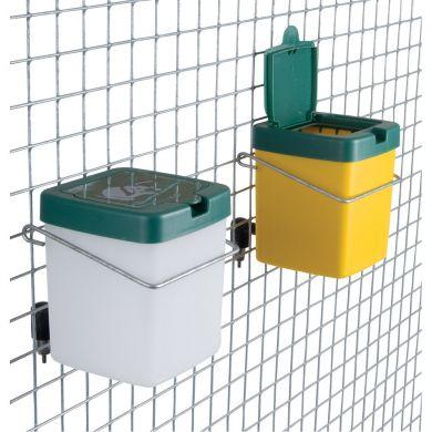 Adapatoare automata cu recipient borcan pahar cupa plastic galbena sau alba 0,5 litri si clema de prindere