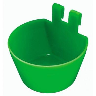 Hranitoare adapatoare pahar cupa borcan cutie carlige agatatoare prindere cusca 120ml verde albastra