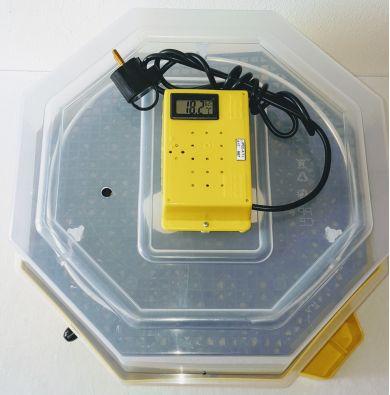 Incubator Cleo 5 cu termohigrometru digital, întoarcere semi-automată ouă de găină & prepeliţă şi cupă exterioară pt. apă