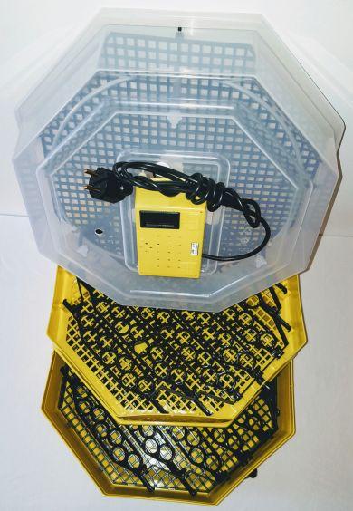 Incubator Cleo 5 cu etaj, termometru digital şi întoarcere semi-automată ouă de prepeliţă